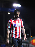 Lincoln City's Ollie Palmer<br /> <br /> Photographer Chris Vaughan/CameraSport<br /> <br /> The EFL Sky Bet League Two - Lincoln City v Cheltenham Town - Tuesday 13th February 2018 - Sincil Bank - Lincoln<br /> <br /> World Copyright &copy; 2018 CameraSport. All rights reserved. 43 Linden Ave. Countesthorpe. Leicester. England. LE8 5PG - Tel: +44 (0) 116 277 4147 - admin@camerasport.com - www.camerasport.com