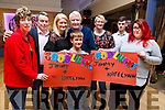 Supporting James O'Mahoney and Katelyn Galvin at the Ballymac Strictly Love dancing in the Ballygarry House Hotel on Saturday. L to r: Helen Roche, James and Margaret O'Mahoney, Dylan Toomey, Tom Roche, Mary Toomey, Paul Chamberlain and Louise O'Mahoney .