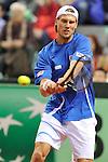 (KIKA) - TORINO - 03/02/2013 - Coppa Davis Italia - Croazia, Primo Turno Gruppo Mondiale. Andreas SEPPI vs. Marin CILIC, quarto incontro di Coppa Davis al Palavela di Torino, il 3 febbraio 2013. L'iItalia sconfigge la Croazia e passa il turno.