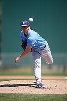 Tampa Bay Rays starting pitcher Brendan McKay (38) during a Minor League Spring Training game against the Minnesota Twins on March 15, 2018 at CenturyLink Sports Complex in Fort Myers, Florida.  (Mike Janes/Four Seam Images)
