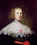 Portrait of a Young Woman (oil on panel), Geest, Wybrand Simonsz. de (1592-1660)