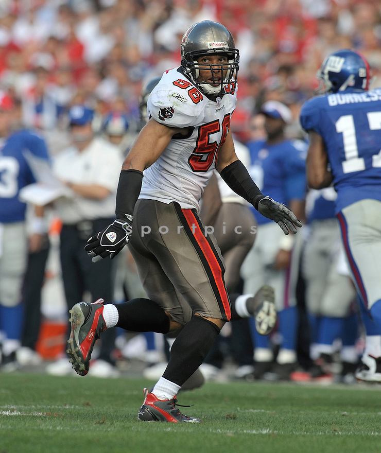 RYAN NECE, of the Tampa Bay Buccaneers in action during the Buccaneers game against the New York Giants  on January 6, 2007 in Tampa Bay, Florida...GIANTS win 24-14..SportPics