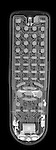 X-ray image of a remote control (white on black) by Jim Wehtje, specialist in x-ray art and design images.