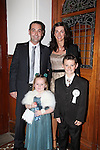 Callystown National School First Communion..Jack, Niamh, Shirley and Craig Byrne..Pic Fran Caffrey/newsfile.ie