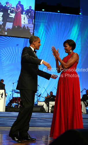 United States President Barack Obama and First Lady Michelle Obama arrive at the annual Phoenix Awards Dinner sponsored by the Congressional Black Caucus Foundation at the Washington Convention Center, Washington, DC, Saturday, September 18, 2010..Credit: Martin H. Simon - Pool via CNP