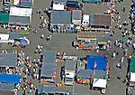 Aerial views of Jamaica Queens Flea Market