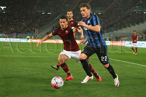 19.03.2016. Stadium Olimpico, Rome, Italy.  Serie A football league. AS Roma versus Inter Milan. Ljajic Adam breaks into the Roma box