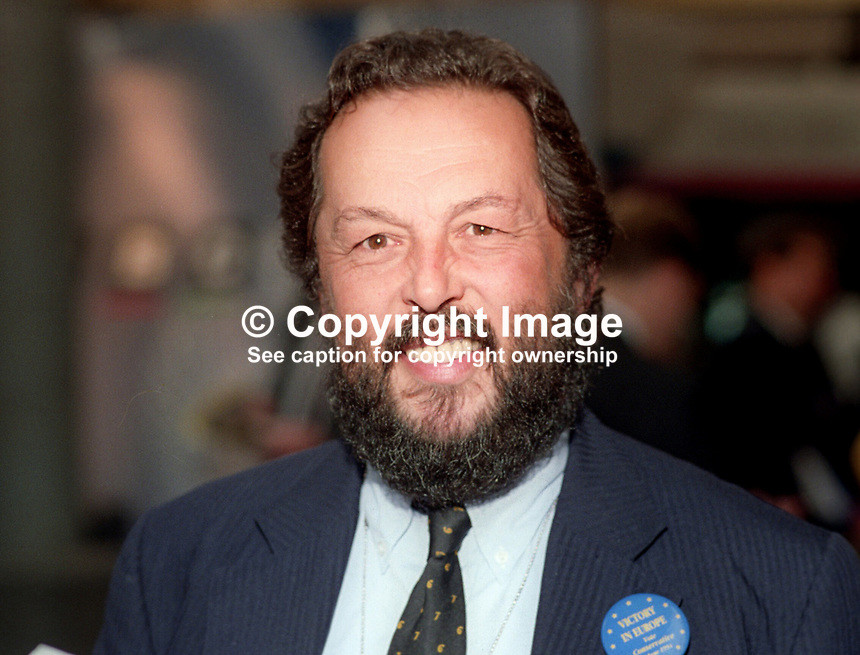 Lord Stockton, grandson of late UK Prime Minister Harold Macmillan, who was the first Lord Stockton. Lord Stockton was one of the heriditary peers excluded from the House of Lords when it was reformed. Taken at Conservative Party Annual Conference in Blackpool 1993. 197310040024.<br />