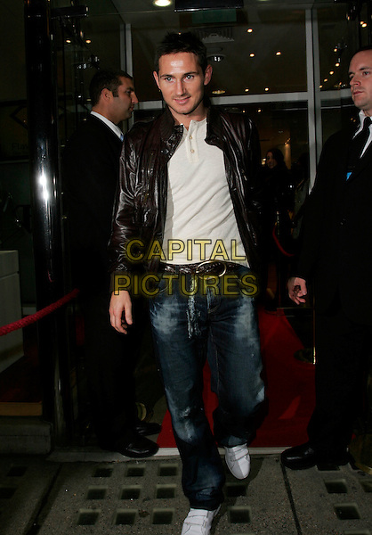 FRANK LAMPARD.The White Room - charity fundraiser, Flawless & Co, New Bond Street, London, England..November 8th, 2007.full length black leather jacket jeans denim .CAP/AH.©Adam Houghton/Capital Pictures.