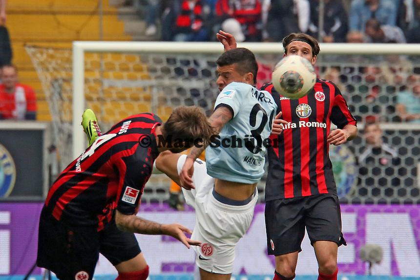 Marco Russ (Eintracht) gegen Shawn Parker (Mainz) - Eintracht Frankfurt vs. 1. FSV Mainz 05