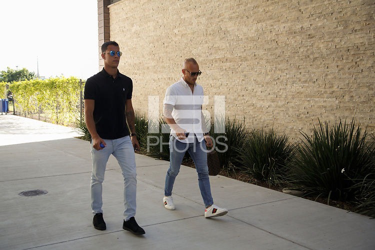 San Jose, CA - Wednesday July 25, 2018: Luis Felipe, Magnus Eriksson during a Major League Soccer (MLS) match between the San Jose Earthquakes and the Seattle Sounders FC at Avaya Stadium.