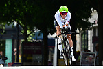 British National Champion Steve Cummings (GBR) Team Dimension Data in action during the opening Prologue of the 2018 Criterium du Dauphine 2018 running 6.6km around Valence, France. 3rd June 2018.<br /> Picture: ASO/Alex Broadway | Cyclefile<br /> <br /> <br /> All photos usage must carry mandatory copyright credit (&copy; Cyclefile | ASO/Alex Broadway)