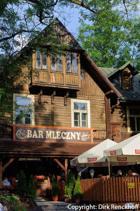 Milchbar (Bar Mleczny) in Zakopane, Woiwodschaft Kleinpolen (Wojew&oacute;dztwo małopolskie), Polen, Europa<br /> Milbar  (Bar Mleczny) in Zakopane, Poland, Europe