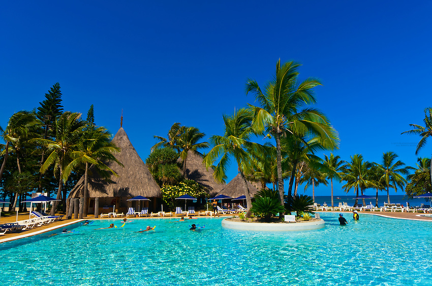 Swimming pool, Le Meridien Nouméa Beach Resort Hotel, Noumea, Grand Terre, New Caledonia
