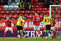 James Henry scores Oxford United's first goal during Charlton Athletic vs Oxford United, Sky Bet EFL League 1 Football at The Valley on 3rd February 2018