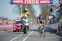 48th Amstel Gold Race 2013..winner: Roman Kreuzinger (CZE) crossing the finishline