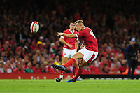 Jarrod Evans of Wales misses a penalty during the under armour summer series 2019 match between Wales and Ireland at the Principality Stadium, Cardiff, Wales, UK. Saturday 31st August 2019