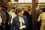 Ladies fashion 1980s. Senior woman at the Chelsea Flower Show. London UK