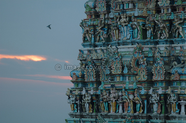 Sri Minakshi Temple in Madurai at early morning. India, Tamil Nadu, Madurai.