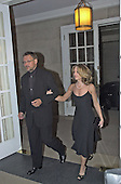 Director of Photography Janusz Kaminski and actress Holly Hunter arrive at the British Embassy in Washington, DC for the ceremony honoring filmmaker Steven Spielberg on January 29, 2001.<br /> Credit: Ron Sachs / CNP