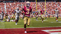 "TALLAHASSEE, FLA 9/10/16-Florida State's Jesus ""Bobo"" Wilson completes his 89-yard punt return for the Seminole's fourth touchdown against Charleston Southern during first quarter action Saturday at Doak Campbell Stadium in Tallahassee. <br /> COLIN HACKLEY PHOTO"