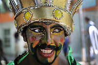 "A patient from mental health hospital Nise da Silveira participates at ""Loucura Suburbana,""  (Suburban Madness) carnival group parade, Rio de Janeiro, Brazil, February 12, 2015. Patients, their relatives and workers from the institute held their parade one day before the official start of Carnival.."