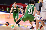 Darussafaka Dogus's Dairis Bertans and Ante Zizic during Turkish Airlines Euroleague match between Real Madrid and Darussafaka Dogus at Wizink Center in Madrid, Spain. February 24, 2017. (ALTERPHOTOS/BorjaB.Hojas)