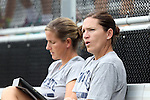 07 September 2014: Penn State assistant coach Ann Cook with head coach Erica Walsh (behind). The Duke University Blue Devils hosted the Penn State University Nittany Lions at Koskinen Stadium in Durham, North Carolina in a 2014 NCAA Division I Women's Soccer match. PSU won the game 4-3.