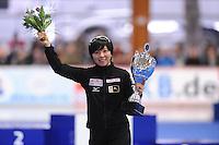 SCHAATSEN: ERFURT: Gunda Niemann Stirnemann Eishalle, 22-03-2015, ISU World Cup Final 2014/2015, Final Podium 500m, Nao Kodaira (JPN), ©foto Martin de Jong