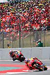 Gran Premi Monster Energy de Catalunya 2017.<br /> Moto GP Race.<br /> Marc Marquez &amp; Dani Pedrosa.
