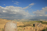 Israel, Issachar Heights. A poem by Rachel by Givat Hamore-Ramot Issachar scenic road