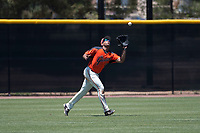 San Francisco Giants Orange left fielder Franklin Labour (49) prepares to catch a fly ball during an Extended Spring Training game against the Seattle Mariners at the San Francisco Giants Training Complex on May 28, 2018 in Scottsdale, Arizona. (Zachary Lucy/Four Seam Images)