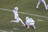 Sechstes Field Goal von kicker Jason Sanders (7) of the Miami Dolphins - 08.12.2019: New York Jets vs. Miami Dolphins, MetLife Stadium New York
