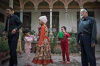 Kashi, Xinjiang Province, May 2014 - A family