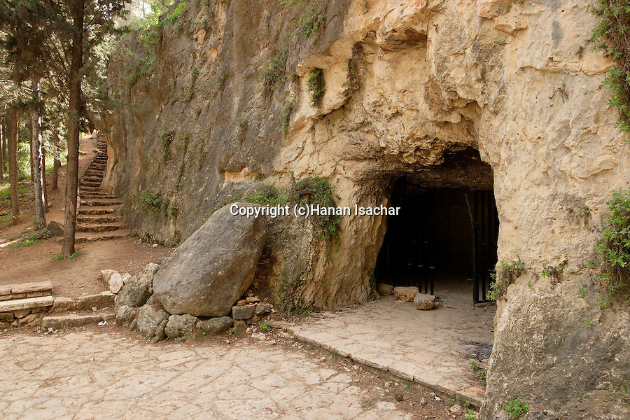 Israel, Jerusalem Mountains. Bnai Brith cave at the Martyrs' Forest