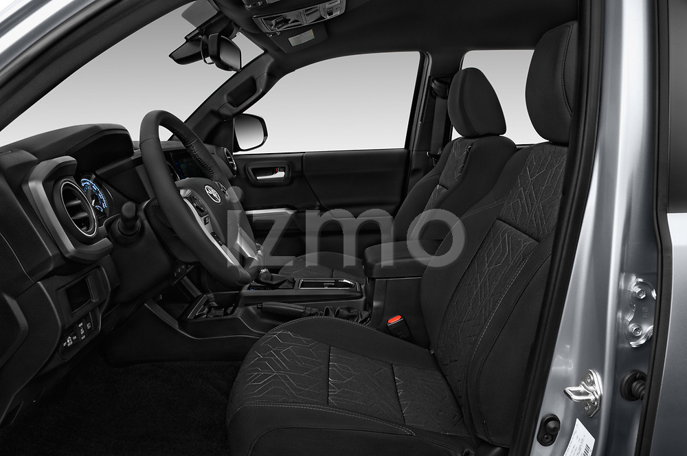 Front seat view of a 2018 Toyota Tacoma TRD Off Road Double Cab 4 Door Pick Up front seat car photos