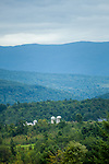 Farmland near the Green Mountains in Shelburne, VT, USA