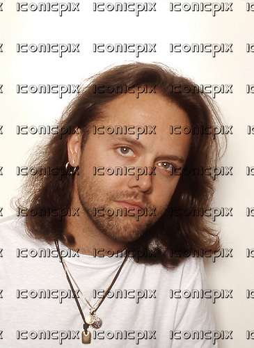 Metallica - drummer Lars Ulrich -  photographed exclusively backstage at Castle Donington, Leicestershire, England -  25 Aug 1995.  Photo credit: George Chin/IconicPix