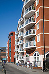 Modern apartments waterfront redevelopment, Wet Dock, Ipswich, Suffolk, England