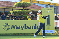 Prayad Marksaeng (THA) on the 1st tee during Round 1 of the Maybank Championship at the Saujana Golf and Country Club in Kuala Lumpur on Thursday 1st February 2018.<br /> Picture:  Thos Caffrey / www.golffile.ie<br /> <br /> All photo usage must carry mandatory copyright credit (© Golffile | Thos Caffrey)