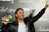 David Guetta attends 40 Principales awards photocall of winners  2012 at Palacio de los Deportes in Madrid, Spain. January 24, 2013. (ALTERPHOTOS/Caro Marin) /NortePhoto