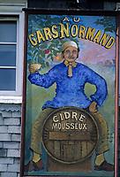 Europe/France/Normandie/Basse-Normandie/14/Calvados/Honfleur: Détail d'une enseigne d'un restaurant  sur le vieux bassin