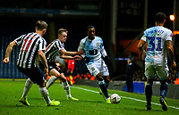 Blackburn Rovers' Amari'i Bell takes on Newcastle United's Matt Ritchie and Sean Longstaff<br /> <br /> Photographer Alex Dodd/CameraSport<br /> <br /> Emirates FA Cup Third Round Replay - Blackburn Rovers v Newcastle United - Tuesday 15th January 2019 - Ewood Park - Blackburn<br />  <br /> World Copyright © 2019 CameraSport. All rights reserved. 43 Linden Ave. Countesthorpe. Leicester. England. LE8 5PG - Tel: +44 (0) 116 277 4147 - admin@camerasport.com - www.camerasport.com