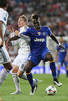 Juventus midfielder Pogba and Real Madrid Kroos