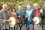 Killarney Comhaltas are celebrating their 50th anniversary with a very special concert in Killarney in the Gleneagle on November 11th. .L-R Vice chairman Noel Grimes, secretary Ann Mangan, PJ Hartnett, treasurer Gerard Mangan and chairman Eoin Ó Carra.