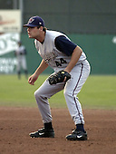 August 25, 2004:  Chris Nowak of the Hudson Valley Renegades, NY-Penn League (Short Season Single-A) affiliate of the Tampa Bay Devil Rays during a game at Dwyer Stadium in Batavia, NY.  Photo by:  Mike Janes/Four Seam Images