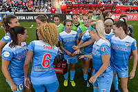 Bridgeview, IL - Saturday August 12, 2017: Chicago Red Stars during a regular season National Women's Soccer League (NWSL) match between the Chicago Red Stars and the Portland Thorns FC at Toyota Park. Portland won 3-2.