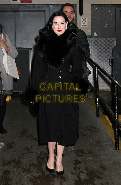 NEW YORK, NY - DECEMBER 1: Dita von Teese spotted leaving 'HuffPost Live'/'AOL Build' studios in New York, New York on December 1, 2015  <br /> CAP/MPI/RMP<br /> &copy;RMP/MPI/Capital Pictures