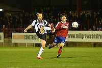 Craig Disley of Grimsby Town passes the ball during the Vanarama National League match between Aldershot Town and Grimsby Town at the EBB Stadium, Aldershot, England on 5 April 2016. Photo by Paul Paxford / PRiME Media Images.