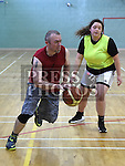Dave Pendlebury in action during the Golden Oldies basketball tournment in aid of Alzheimers Society held in St Mary's DS Gym. Photo:Colin Bell/pressphotos.ie